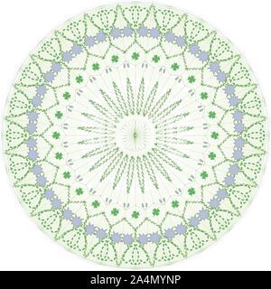 Pale Green Intricate Mandala, spiritual, conceptual, ethnic and artistic design. - Stock Photo