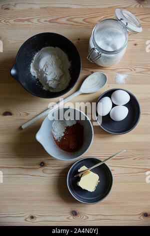Ingredients on table - Stock Photo