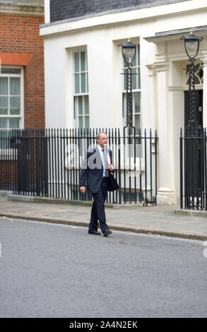 Dominic Raab MP (Foreign Secretary)  arrives in Downing Street for a gathering at Number 10, 2nd September 2019. - Stock Photo