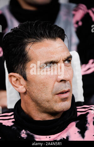 Gianluigi Buffon during the Inter-Juventus soccer match in San Siro Stadium - Stock Photo