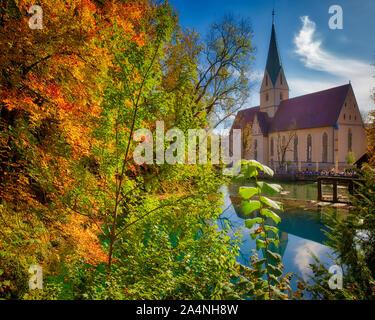 DE - BADEN-WÜRTTEMBERG: The Blautopf and Blaubeuren Abbey  (A UNESCO World Heritage Site)