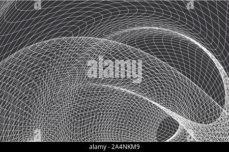 Abstract background with a dynamic wave. Big data. Vector illustration on a black background. - Vector - Stock Photo