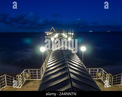 Heringsdorf on the island of Usedom in Germany at night - Stock Photo