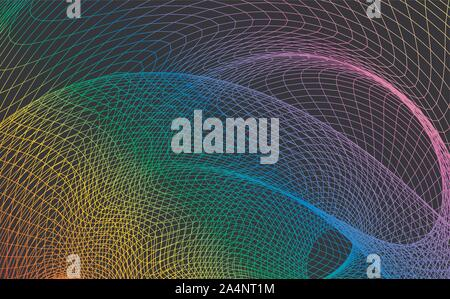Rainbow abstract background with a dynamic wave. Big data. Vector illustration. - Vector - Stock Photo