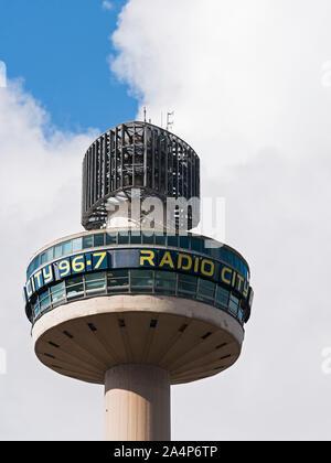 Radio City Tower, St. John's Beacon, a Liverpool landmark at 138m tall, designed by James A. Roberts Associates. - Stock Photo