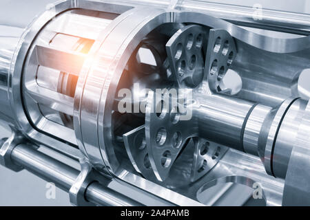 Industrial open mixer in food industry close-up - Stock Photo