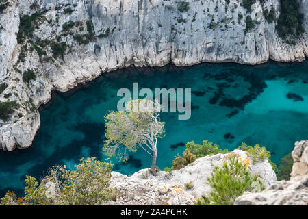 Calanque d'En-Vau in Winter - Stock Photo
