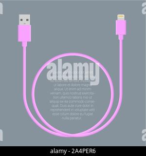 Usb data cable template - Stock Photo