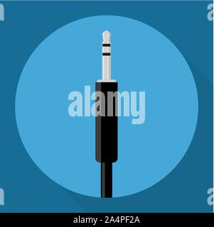 Audio jack icon - Stock Photo