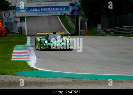 #13 Inter Europol Competition - M. HIPPE / N. MOORE - Ligier JS P3 - Nissan  during 4h of Monza - European Le Mans Series - Race, Monza, Italy, 12 May - Stock Photo
