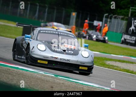 #77 Dempsey - Proton Racing - C. RIED / R. PERA / M. CAIROLI - Porsche 911 RSR  during 4h of Monza - European Le Mans Series - Race, Monza, Italy, 12 - Stock Photo