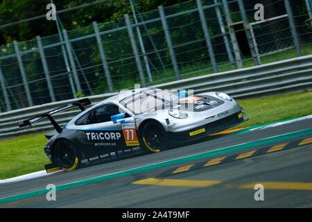 #77 - Dempsey - Proton Racing - Porsche 911 RSR - LMGTE  during 4h of Monza - European Le Mans Series, Monza, Italy, 11 May 2019, Motors Endurance - Stock Photo