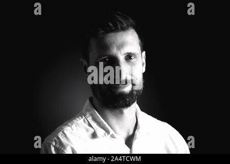 Portrait of a Middle-aged  Man. - Stock Photo
