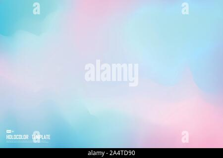 Abstract hologram colorful template design of decoration background. Use for poster, ad, artwork, template design, print, cover. illustration vector - Stock Photo