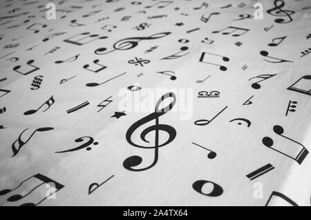 A bedcover background with musical signs and notes (Madeira, Portugal)