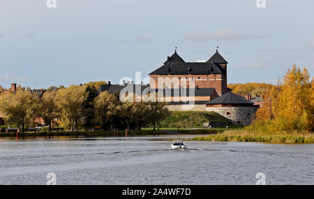 The medieval castle of Hame in autumnal and sunny landscape - Stock Photo