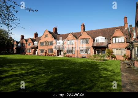 houses on bath street around a lawn by j. j. talbot Port Sunlight England UK - Stock Photo