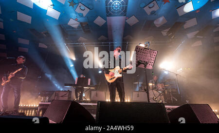 Glasgow, Scotland, UK. 15th October, 2019. Richard Hawley in concert at The Barrowlan Ballroom, Glasgow Great, UK. Credit: Stuart Westwood - Stock Photo