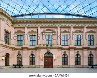 Interior courtyard of the Zeughaus, housing the Deutsches Historisches Museum (German Historical Museum), Berlin-Mitte, Berlin, Germany - Stock Photo