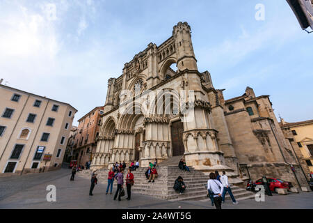 Cuenca Cathedral, Plaza Mayor , Cuenca, Castille La Mancha, Spain - Stock Photo