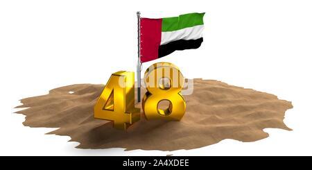United Arab Emirates national day with UAE Balloons, spirit of the union, UAE National day of UAE and Flag day, Anniversary Celebration 2 December,UAE - Stock Photo