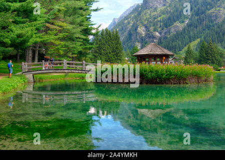 Italy, Aosta Valley, Gressoney-Saint-Jean, Lago di Gover - Stock Photo