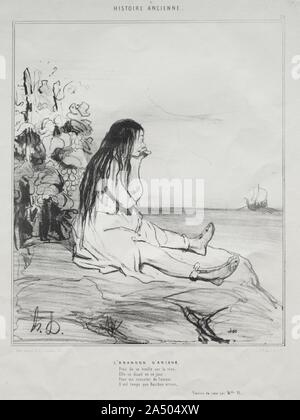 Ancient History, plate 24: The Abandonment of Ariadne, 4 September 1842. - Stock Photo
