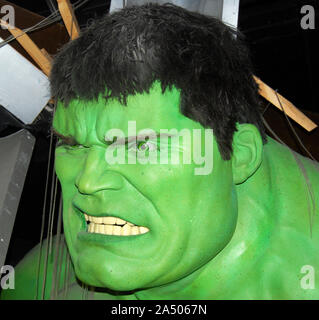 Madame Tussauds Wax Museum: The incredible Hulk - Stock Photo