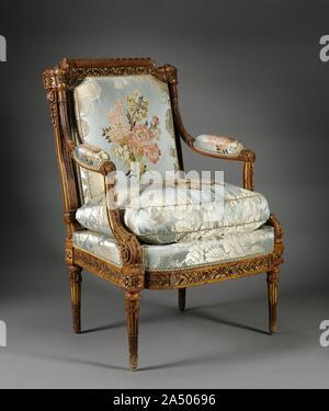 Armchair (Fauteuil), c. 1785. - Stock Photo