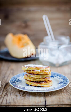 Pumpkin pancakes - the best homemade pastries - Stock Photo
