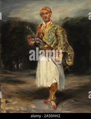Count Demetrius de Palatiano in Suliot Costume, not dated. The Greek war of independence in the 1820s was a source of great interest for the rest of Europe. The exotic costumes of Greek soldiers, or Palikares, were popular subjects for artists. Count Palatiano was a flamboyant Greek aristocrat who often posed for Delacroix and his colleagues in Paris.