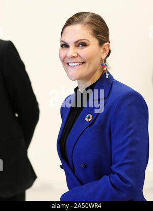 Motala, Sweden. 17th Oct, 2019  Crown Princess Victoria visited Östergötland on Thursday to learn more about plastic recycling and visit 'Swedish plastic recycling' in Motala. The program also includes participation in the Children's Diabetes Foundation's 30th anniversary. In Motala, Europe's largest and most efficient plant for recycling plastic packaging is operated. Photo Jeppe Gustafsson - Stock Photo