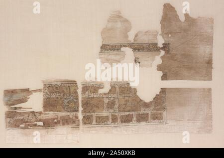 Fragment with tripartite band, 1000s - 1100s. - Stock Photo
