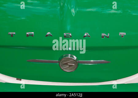 Old Trabant, Classic Days in Berlin - Stock Photo