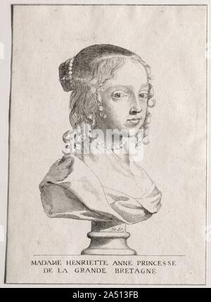 Henriette-Marie dAngleterre, duchess dOrleans. - Stock Photo