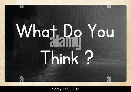 what do you think? - Stock Photo