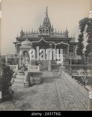 Pareshnath, Jain Temple, Calcutta, c. 1890s. - Stock Photo