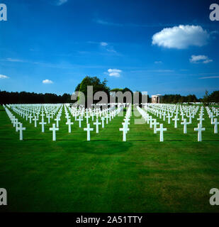 The Normandy American Cemetery in Colleville-sur-Mer, Calvados, Normandie, France - Stock Photo