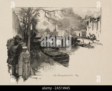 Petit bras de Seine au Pont Neuf. - Stock Photo
