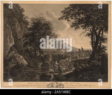 Philip Baptising the Eunuch, 1772. - Stock Photo