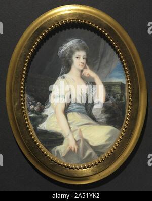 Portrait of Maria Wilhelmine, Countess Thun-Hohenstein, c. 1790. - Stock Photo