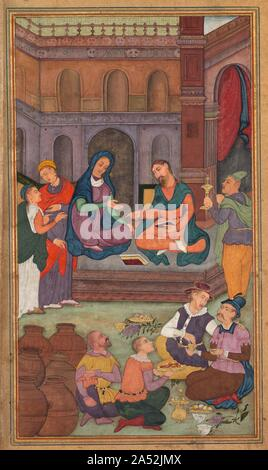 The Marriage at Cana, from a Mirror of Holiness (Mir'at al-quds) of Father Jerome Xavier, 1602-1604.