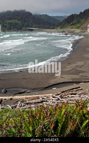 CALIFORNIA - False Klamath Cove on the coast along Highway 101 and the California Coast Trail and part of the Redwood National and State Parks. - Stock Photo