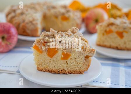 Home made apple pumpkin pie - Stock Photo