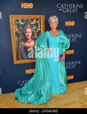 Los Angeles, California, USA. 17th Oct, 2019.  Helen Mirren at the premiere of HBO's 'Catherine the Great' at the Hammer Museum. Picture: Paul Smith/Featureflash Credit: Paul Smith/Alamy Live News - Stock Photo