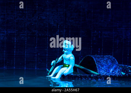 Water puppetry is a tradition that dates back as far as the 11th century when it originated in the villages of the Red River Delta area of Vietnam - Stock Photo