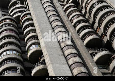 Madrid. Spain. Edificio Torres Blancas on Avenida de América, designed by Spanish architect Francisco Javier Sáenz de Oiza (1918-2000) in 1961, built - Stock Photo
