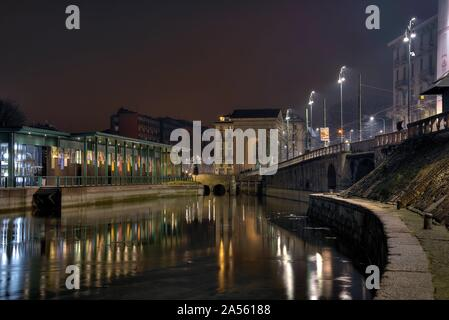 MILAN, ITALY - May 01, 2018: the streets in the city of Milan in Italy Stock Photo
