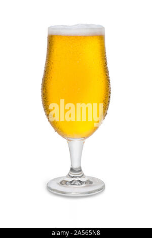 Full Belgium Ale with Condensation #2. - Stock Photo