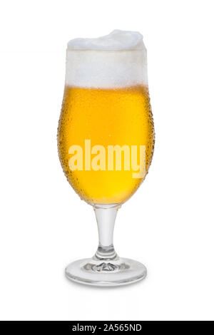 Full Belgium Ale with Condensation and Foam Head #1. - Stock Photo